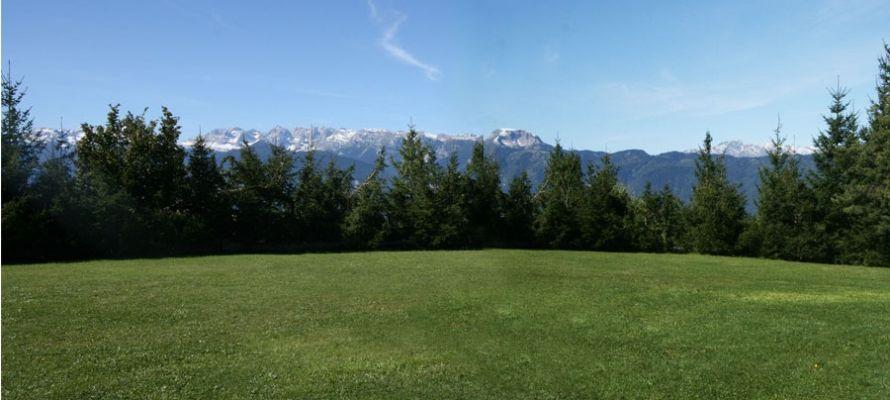 La splendida vista sulle Dolomiti di Brenta