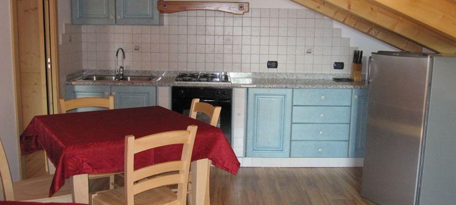 Cucina dell'appartamento nella nuova struttura